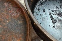 How To Restore A Cast Iron You Bought At Garage Sales