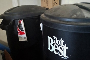 34 Gallon Rubber Made cans